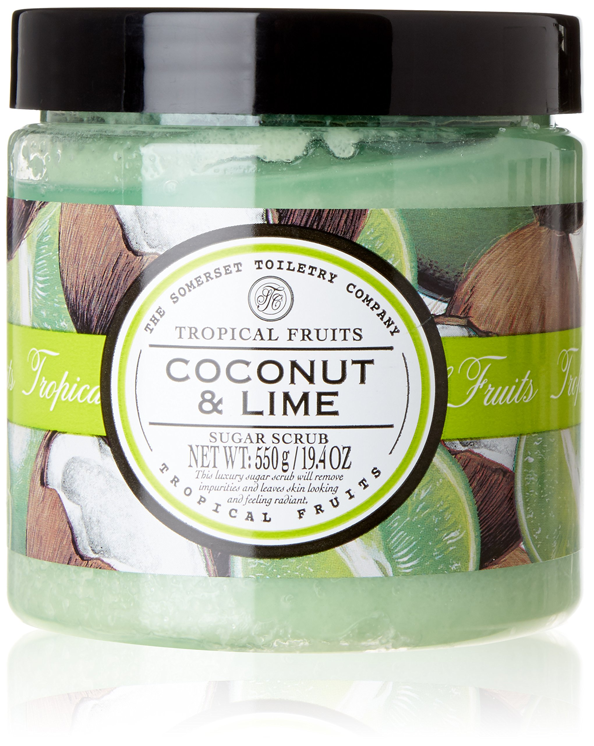 Tropical Fruits Exfoliating Sugar Scrub, Coconut and Lime