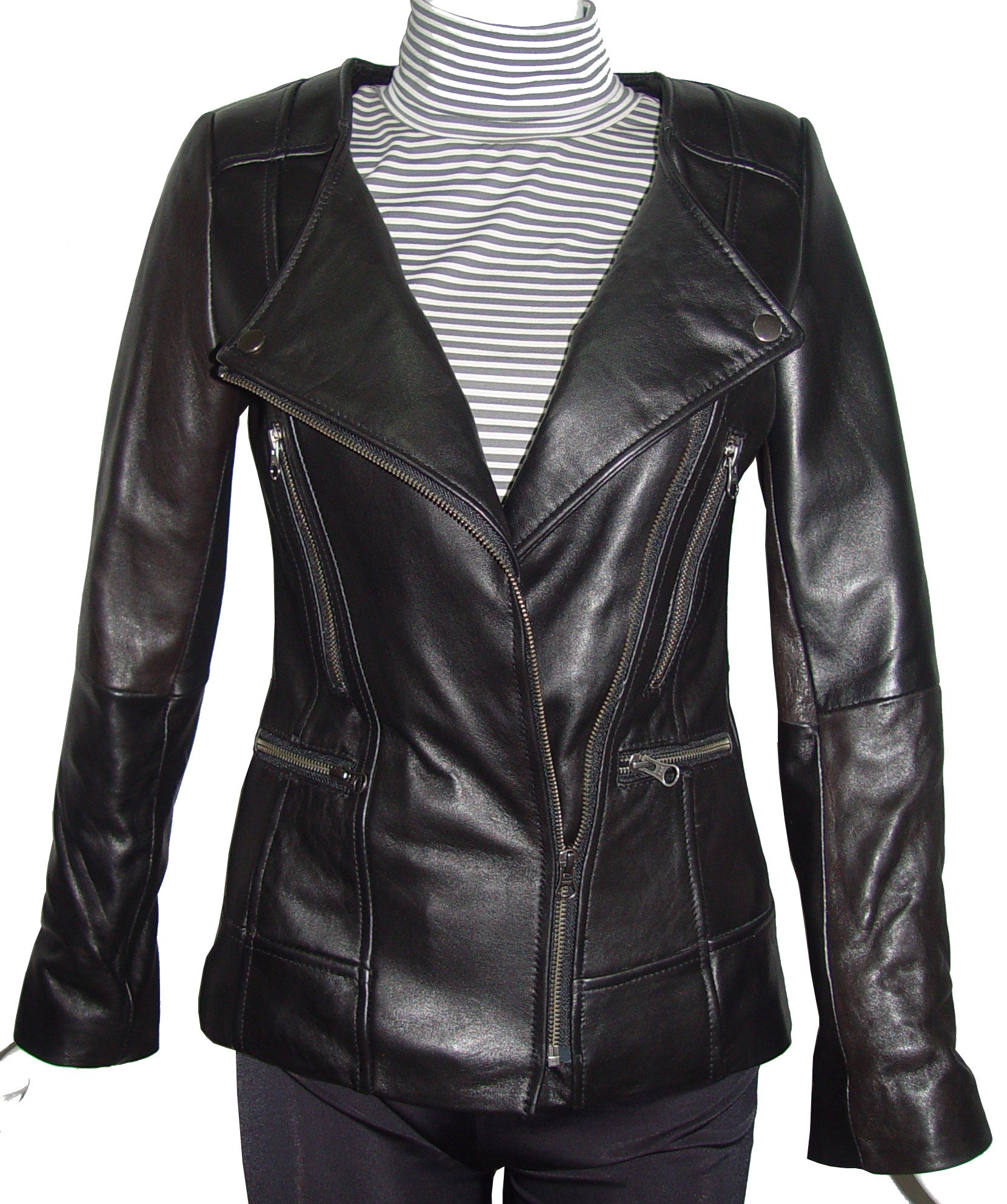 Nettailor Women PETITE & ALL SIZE Fashion 4128 Leather Motorcycle Jacket by Paccilo (Image #5)