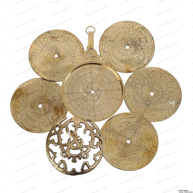 Antique Astrolabe Arabic Calendar Arabic Globe Navigation Astrological Calendar
