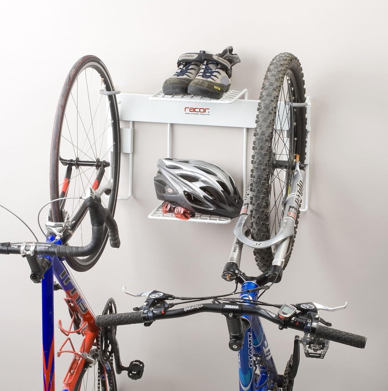 Racor BR 2R Double Vertical Bike Rack With Center Shelf   Bike Storage Racks    Amazon.com