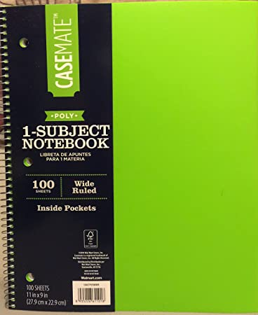 casemate 1 subject spiral notebook 100 sheets 11 quot x 9 quot