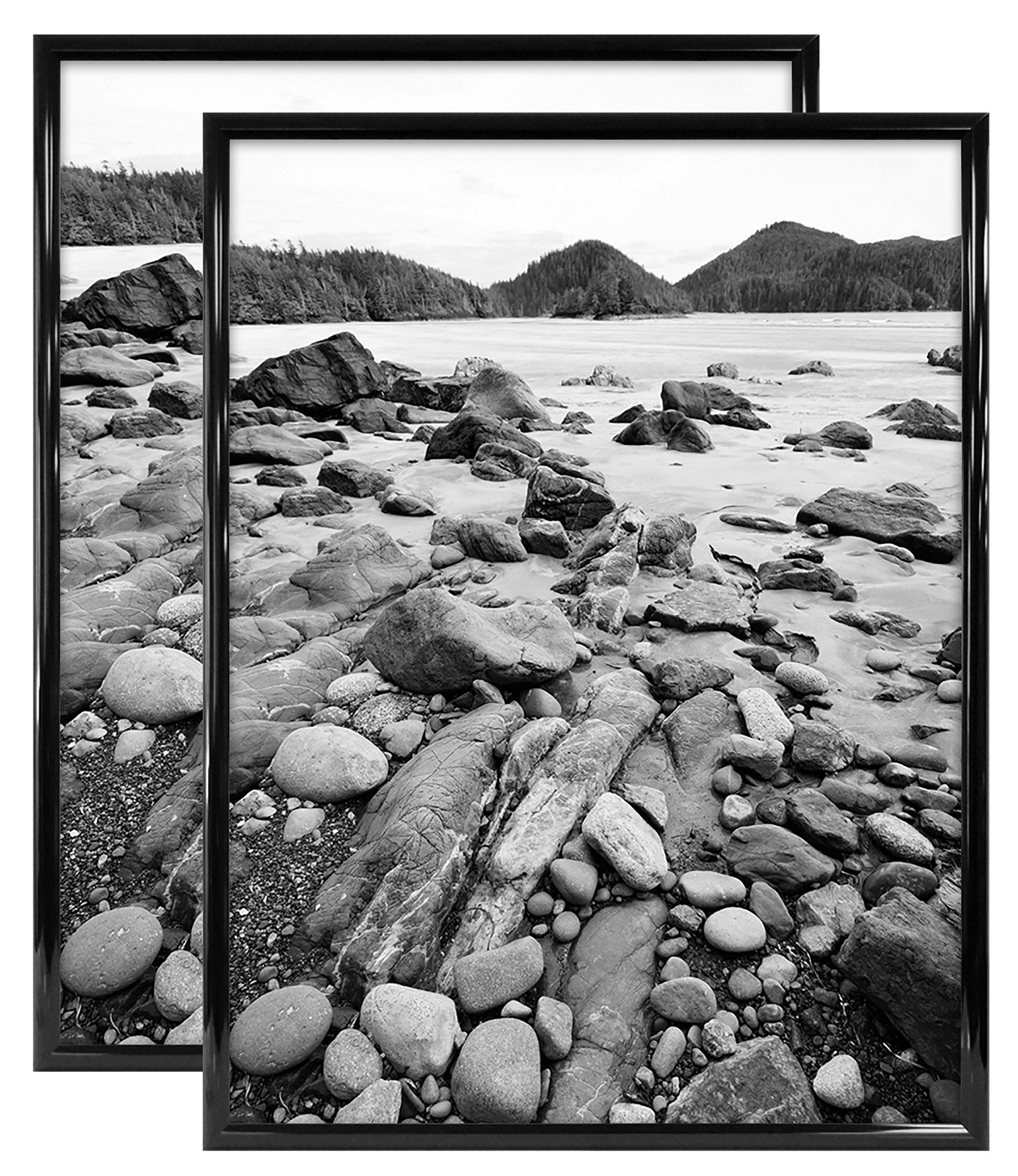 MCS Trendsetter 24x32 Inch Poster Frame (2 Pack), Black (65685) by MCS (Image #2)