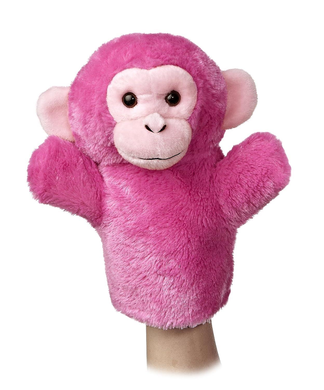 Aurora World–Funda de chimpancé marioneta de peluche, 10cm.