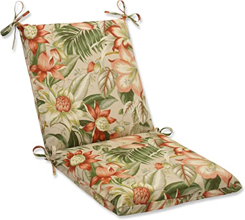 Pillow Perfect Outdoor Indoor Botanical Glow Tiger Stripe Square Corner Chair Cushion, 36.5 x 18 , Floral