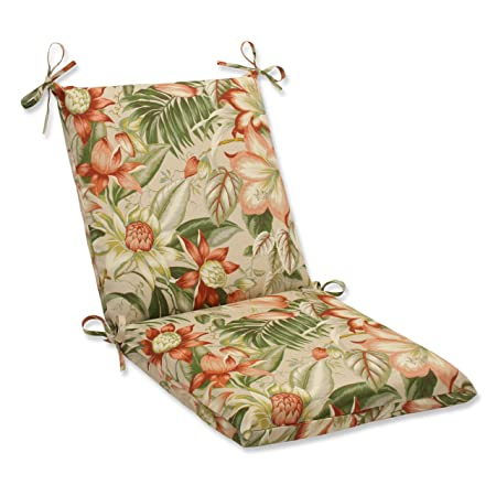 Pillow Perfect Outdoor Botanical Glow Tiger Stripe Squared Corners Chair Cushion