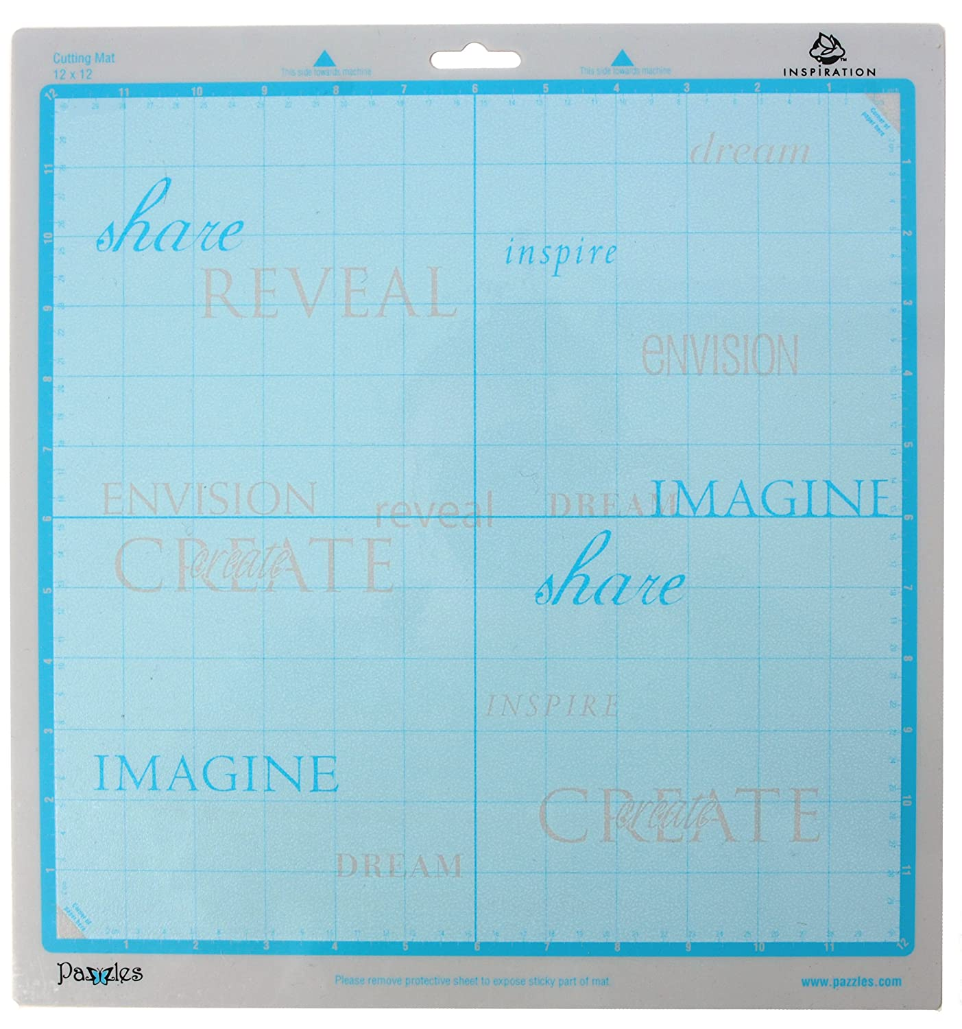 Amazon.com: Pazzles Inspiration 12-Inch 12-Inch Cutting Mat, 2 Pack ...