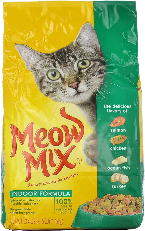 Meow Mix Cat Food, Indoor Formula, 3.15 lb