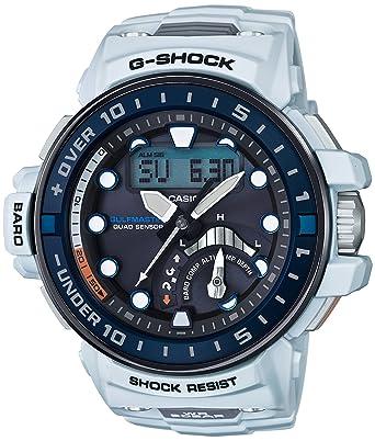 new product 031a7 fc9db [カシオ] 腕時計 ジーショック MASTER OF G ガルフマスター 世界6局対応電波ソーラー GWN-Q1000-7AJF ホワイト