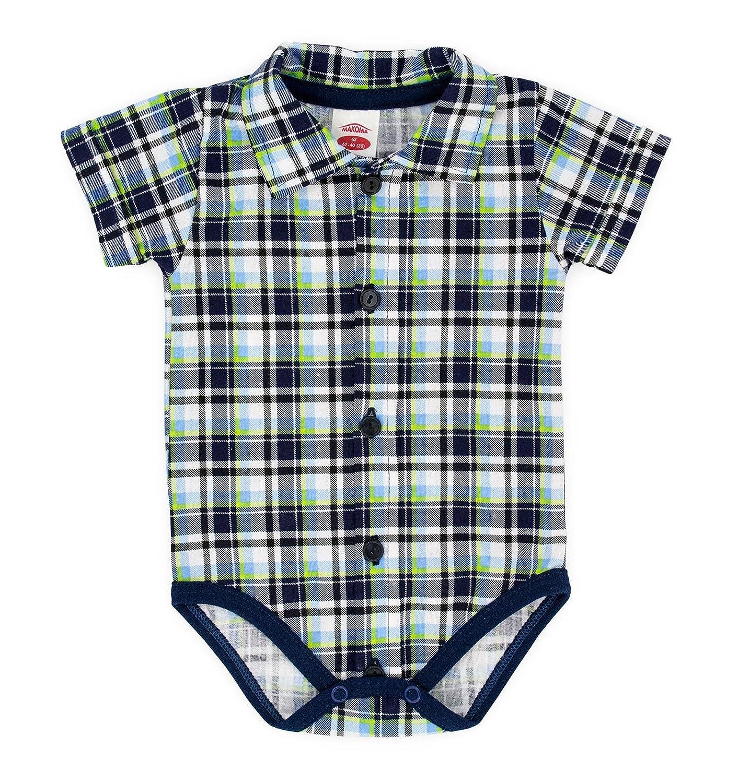 Baby Body-Hemd Kurzarm Größe 68-92 (68, grau) In EU hergestellt