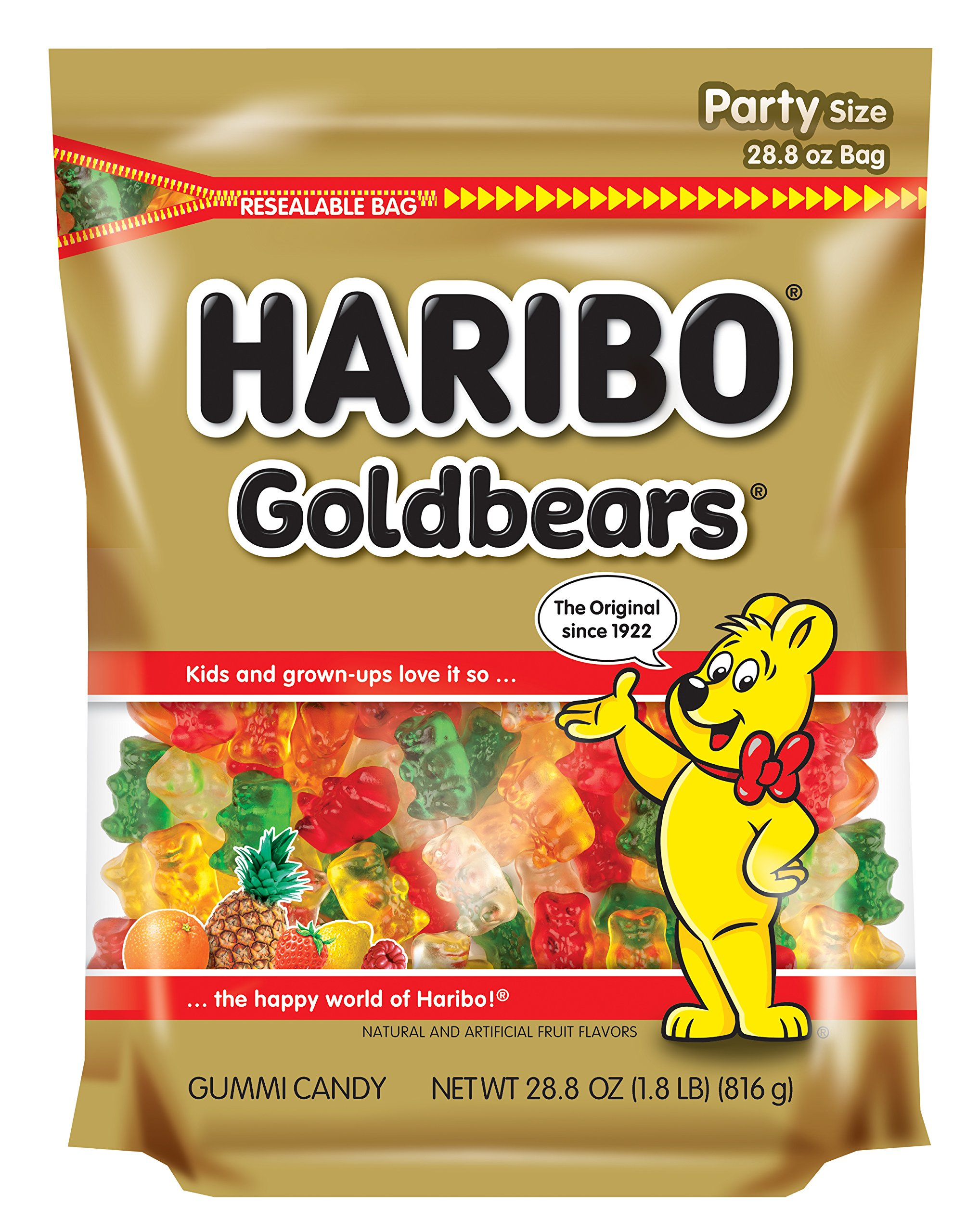 Haribo Goldbears Candy, 28.8 Ounce (Pack of 6)
