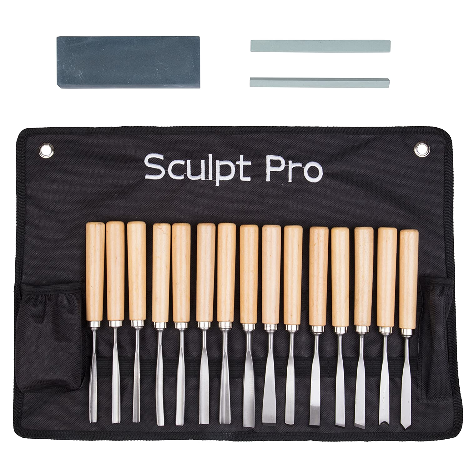 The Sculpt Pro Professional Wood Carving Chisel Set