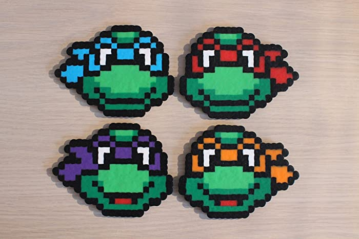 or Keychains Coasters Teenage Mutant Ninja Turtle Perler Small Sprites Magnets