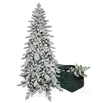 Real Weihnachtsbaum.Bbricoshop Christmas Collection Weihnachtsbaum Slim Snowy