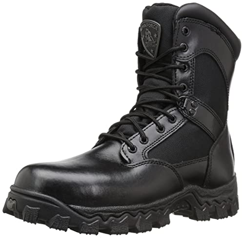 276b49e9d46 Rocky Men's Alpha Force 8 Inch Side Zip ST Work Boot