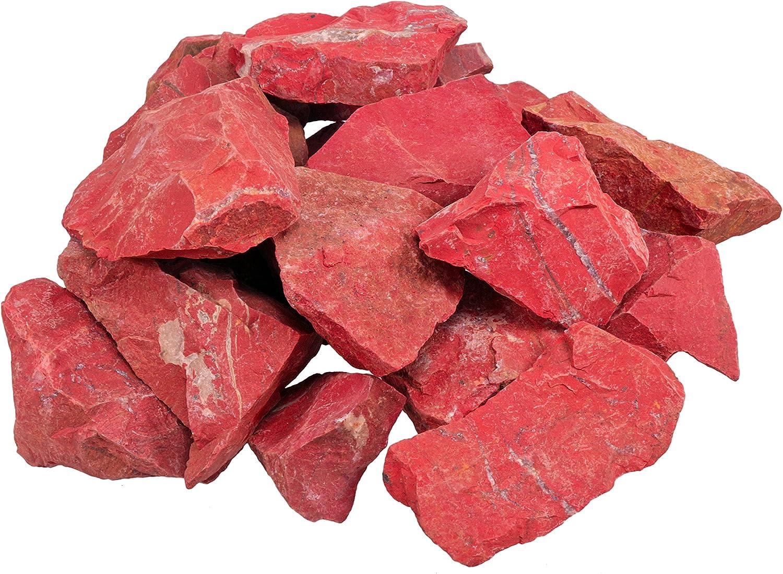 Piedras crudas de jaspe rojo sin tratar, 100% natural, 300 g