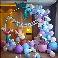 CozofLuv 121Pcs Balloons for Birthday Party, Mermaid Birthday, Mermaid Party for Girls Birthday, Ocean Theme Birthday…