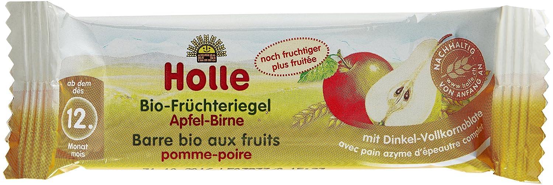 Holle Barre Pomme Poire Biologique pour bébé 25 g - Lot de 10 2501A