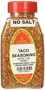 Marshall's Creek Spices Taco No Salt Seasoning, New Size, 11 Ounce