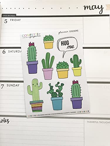 Succulent and cactus planner stickers planner stickers erin condren stickers life planner stickers