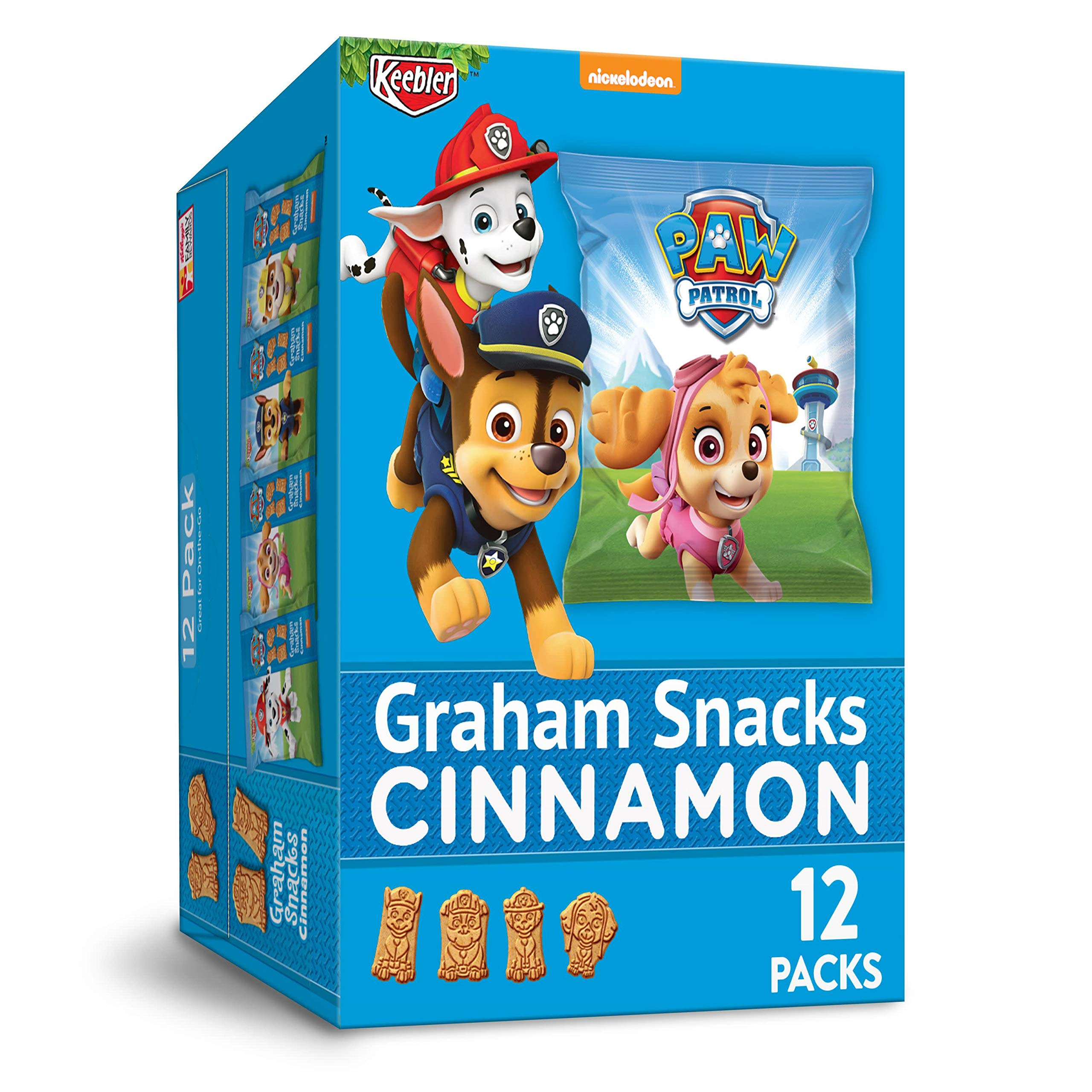 Keebler PAW Patrol, Graham Snacks, Cinnamon, Great for On-the-Go, 12.7oz Caddy(12 Count)