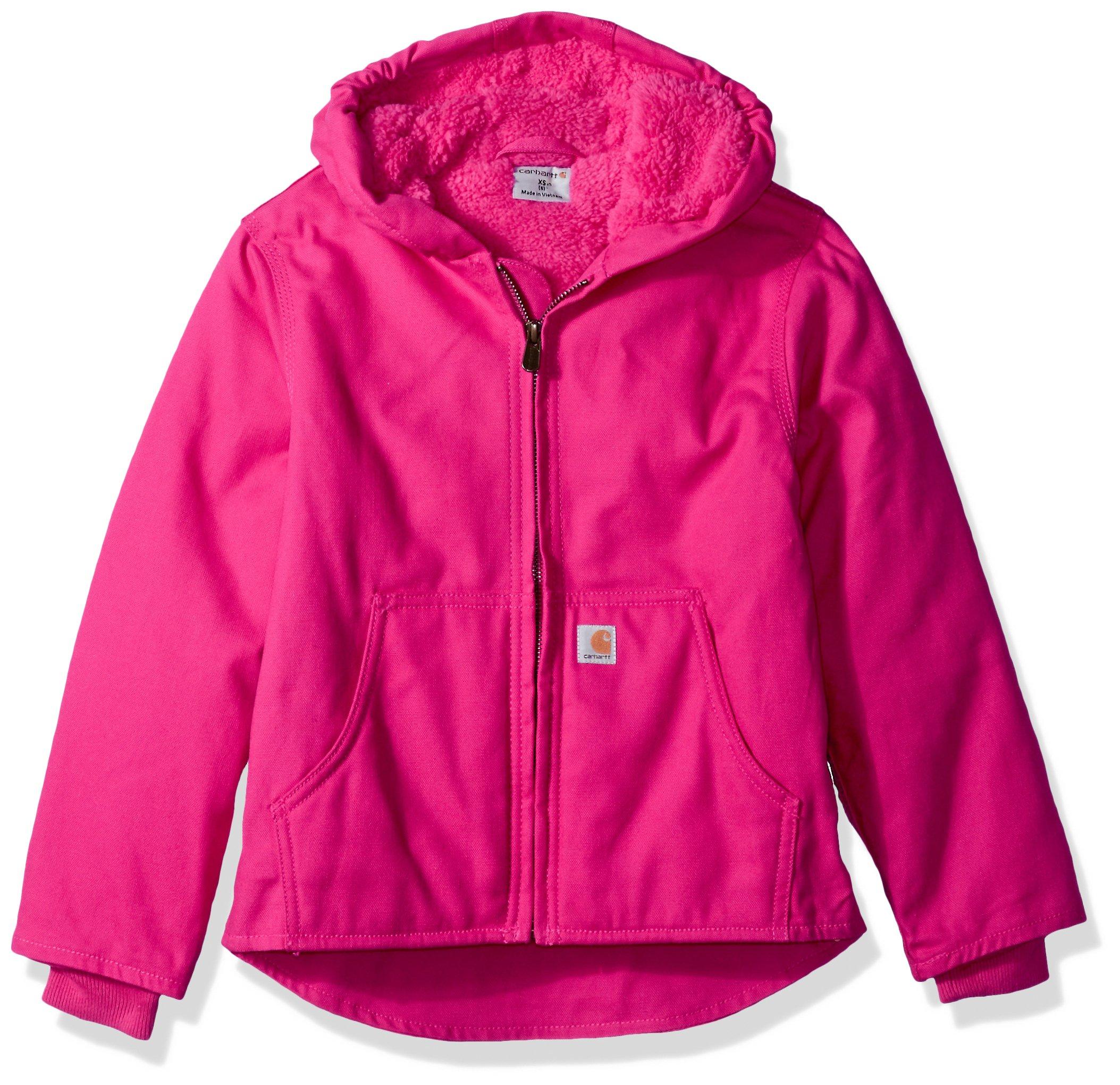 Carhartt Little Girls' Redwood Jacket Sherpa Lined, Pink Peacock, XS (6)