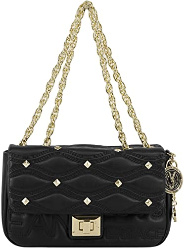 0fe25f3952b Versace Jeans Womens Quilted Shoulder Bag Black  Amazon.co.uk  Shoes ...