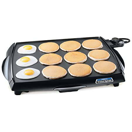 1. Presto 07046 Tilt 'n Drain Big Griddle Cool Touch Electric Griddle