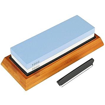 Kruger Home - Afilador de cuchillos con piedra afiladora (2 ...