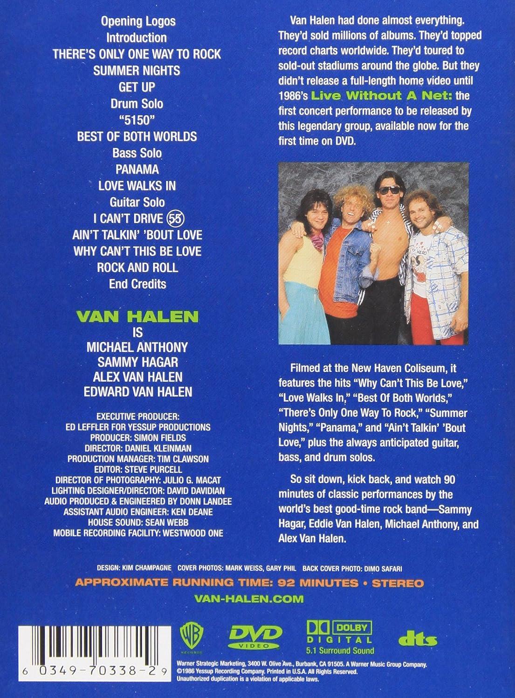 Amazon Com Van Halen Live Without A Net Van Halen Movies Tv