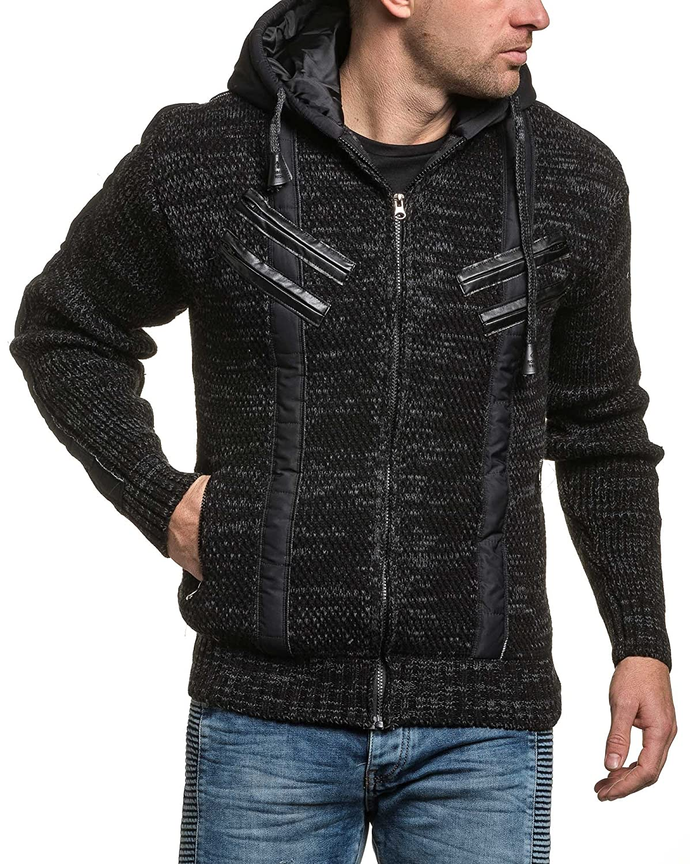 BLZ jeans - Vest black man bimaterial Hoodie
