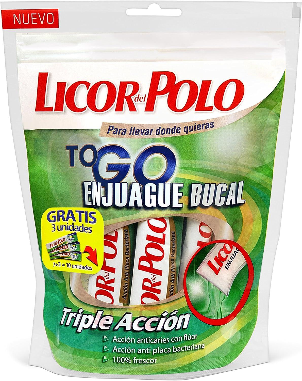 Licor del polo - To go enjuague bucal triple acción bolsa con 10 ...