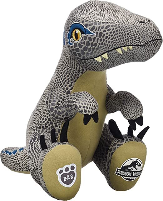 RARE Build a Bear BAB Jurassic World Blue Velociraptor Dinosaur Plush Unstuffed