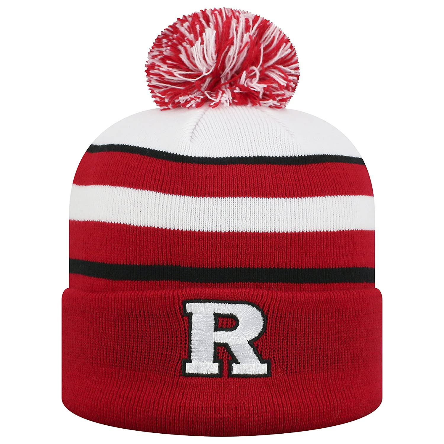 Top of the World Rutgers Scarlet Knights Official NCAA Cuffed Knit Skyview Stocking Stretch Sock Hat Cap Beanie 479750