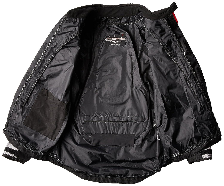 Black//Grey, Large Tourmaster Advanced Mens Textile Motorcycle Jacket