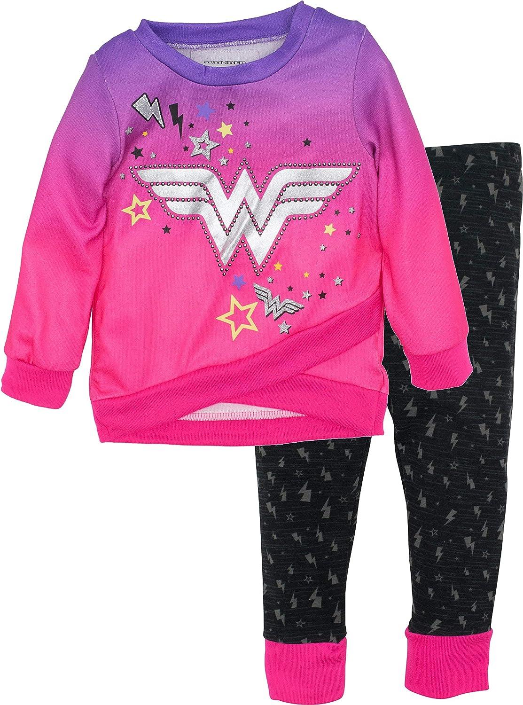Conjunto de Wonder Woman con Mallas y Sudadera de Forro para Niña