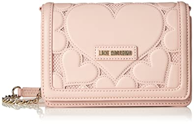 744edf77ea5 Love Moschino Borsa Lamb Pu+mesh+twill Rosa, Women's Baguette, Pink ...