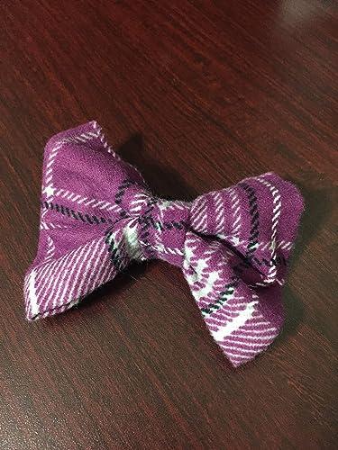 c4401fb1e5d4 Amazon.com: Dog Bow Tie in Purple Plaid Southern Rustic Flannel ...