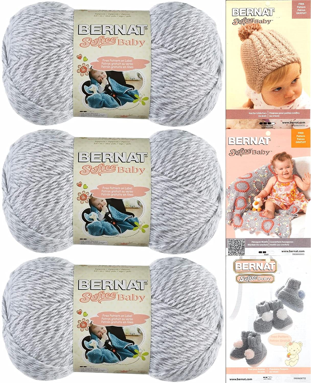 Amazon.com: Bernat Softee Baby Yarn 3 Pack Bundle Includes 3 ...