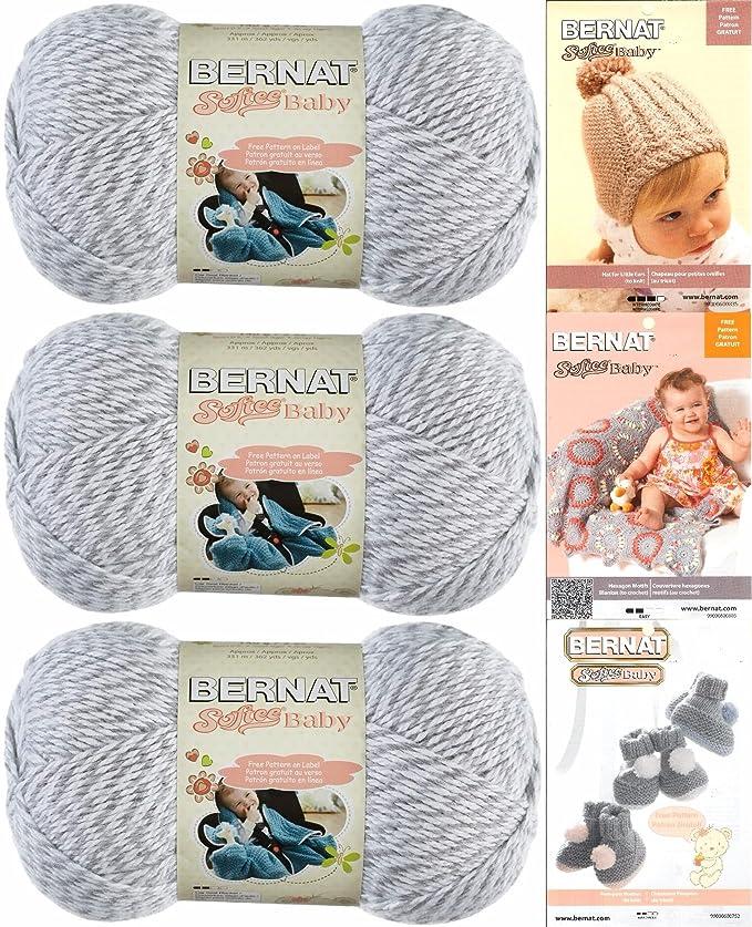 Amazon Bernat Softee Baby Yarn 3 Pack Bundle Includes 3