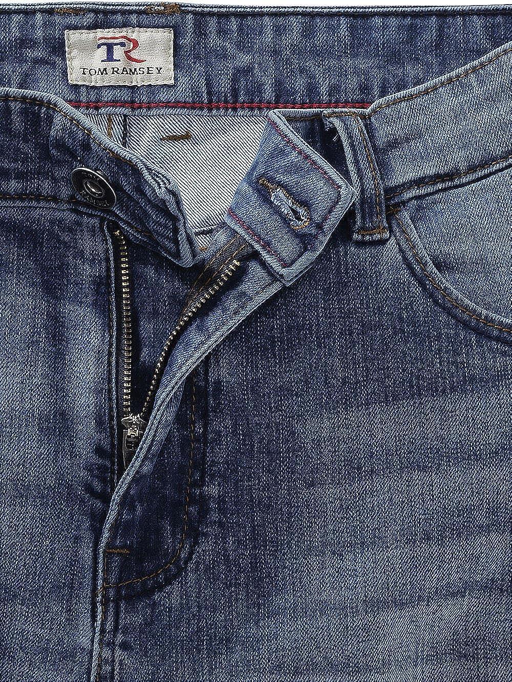 19e6b336429b Tom Ramsey Herren Jeans Bermuda, Kurze Freizeithose in Hellblau, Modische  Sommer-Shorts, mit Stretch-Anteil, Jeansshorts für Männer, Gr. 48 – 60, ...
