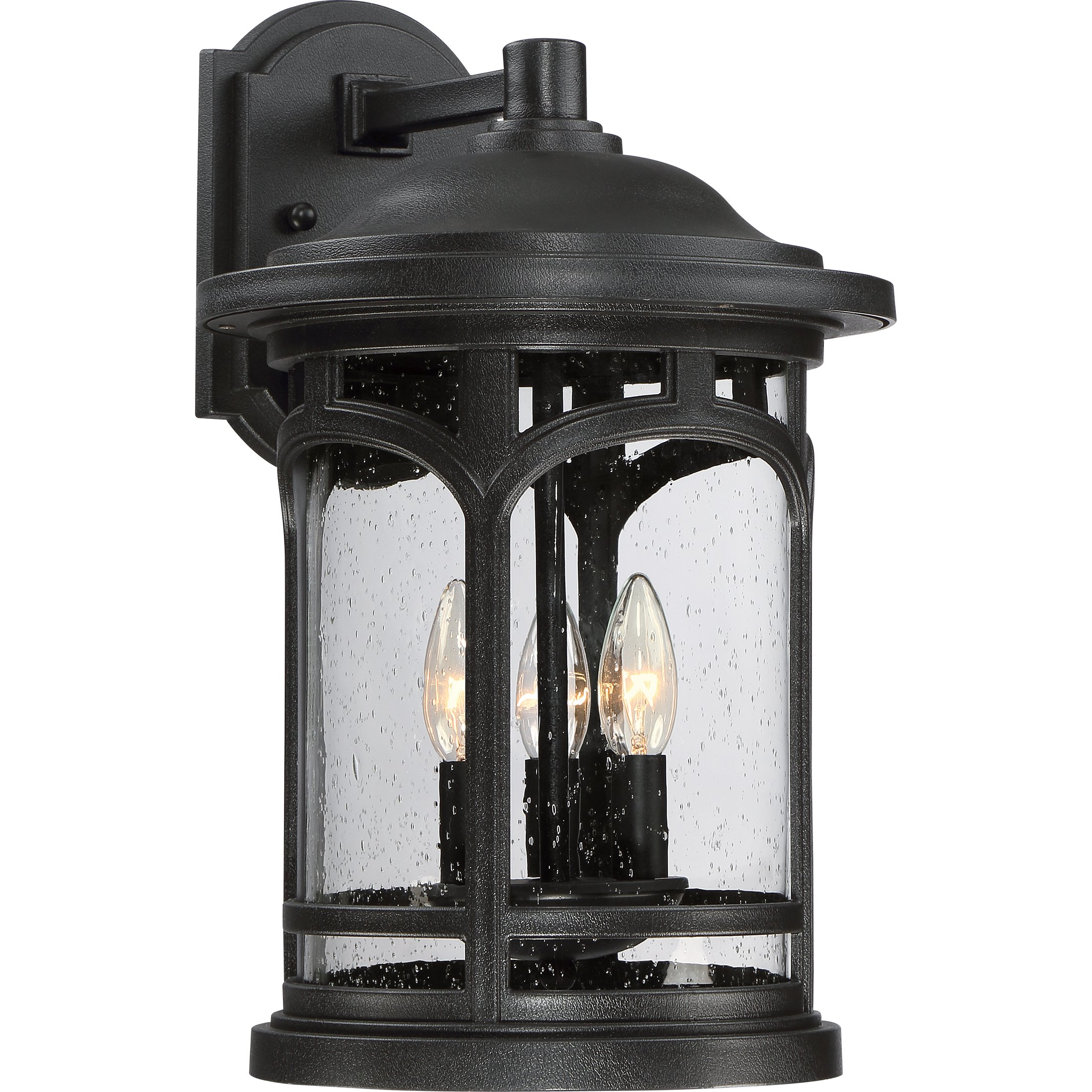 MBH8411K Three Light Wall Marblehead Outdoor Lantern in Mystic Black