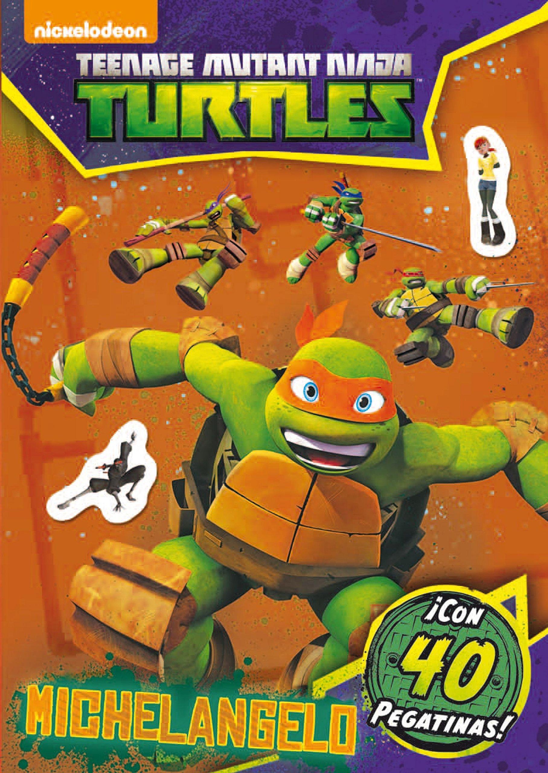 Las Tortugas Ninja. Michelangelo. Actividades con pegatinas ...
