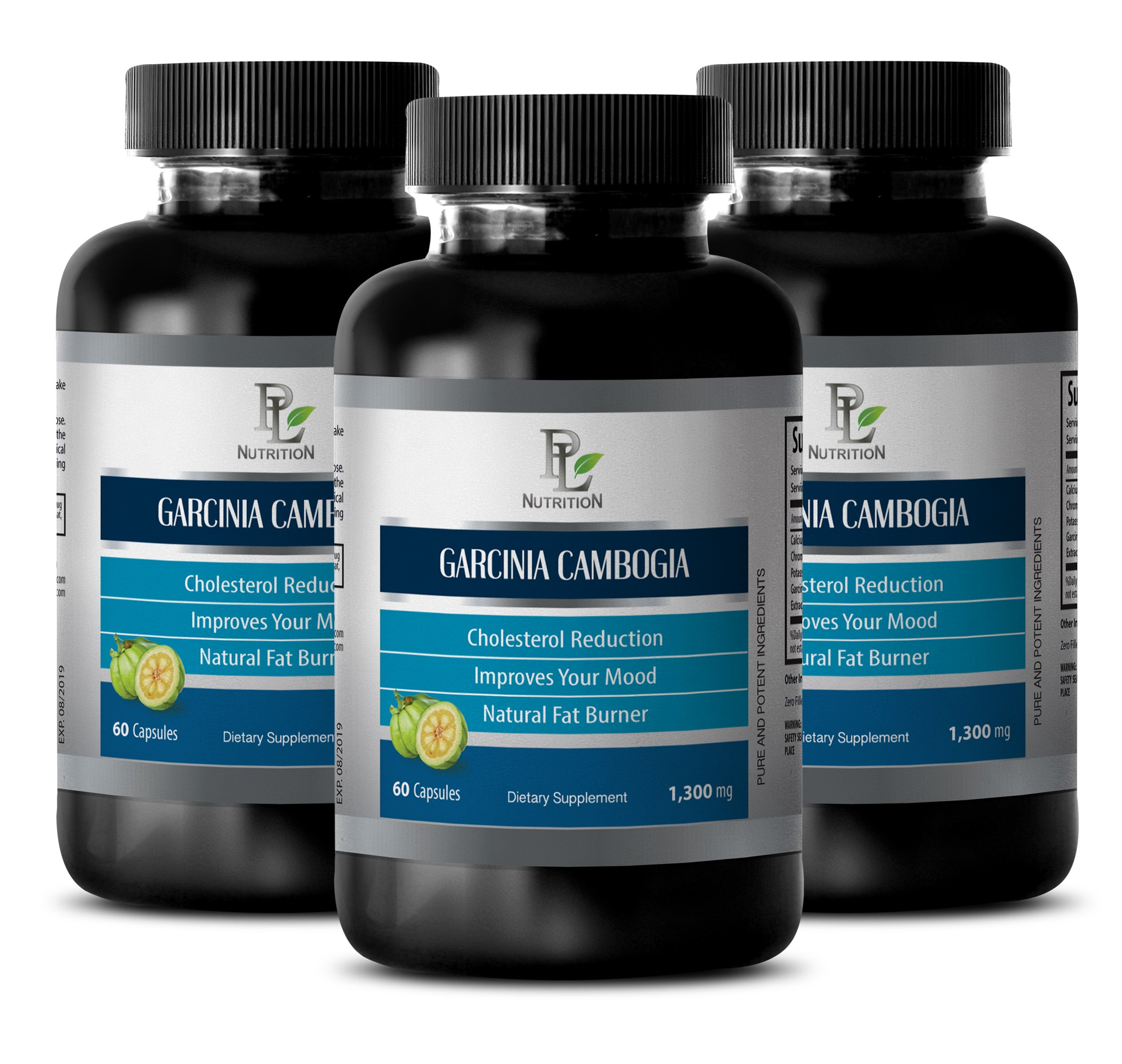Supplements for metabolism - GARCINIA CAMBOGIA EXTRACT - Metabolism pills - 3 Bottle 180 Capsules by PL NUTRITION