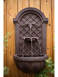 the manchester outdoor wall fountain weathered bronze water feature for garden patio