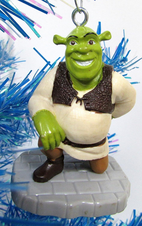 Unique Shatterproof Plastic Design Around 2.5 Tall Holiday Ornaments SHREK 6 Piece Christmas Tree Ogre Ornament Set