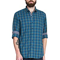 McHenry Mens Pure Cotton Regular Fit Checkered Casual Shirt(Size 39-(S),Size40-(M),Size:42-(L),sIze44-(XL))