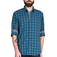 McHenry Mens Pure Cotton Regular Fit Checkered Casual Shirt