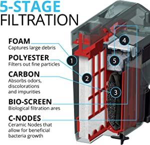 Five filtration stages
