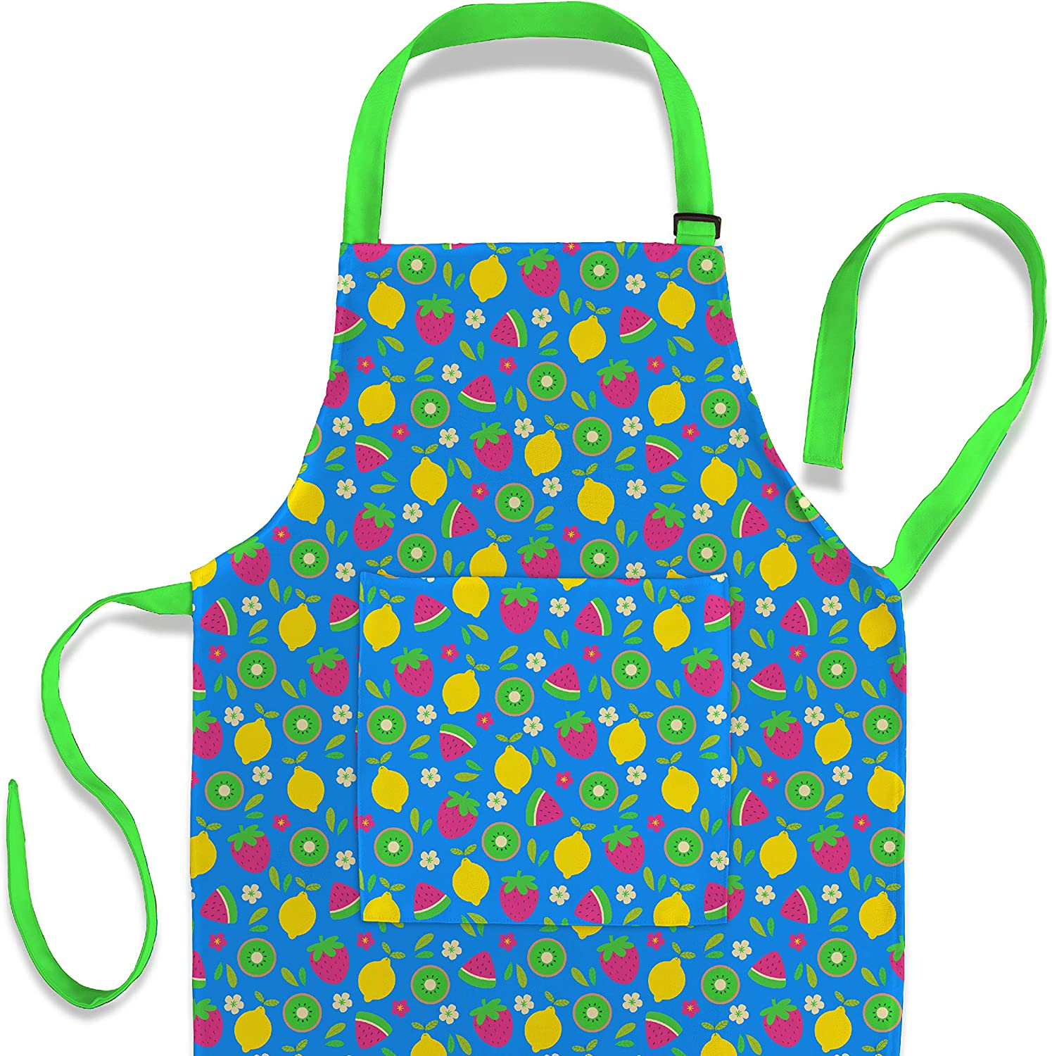 Nomsum Art Smock and Apron for Kids Child and Toddler for Cooking, Baking, Ages 3-8