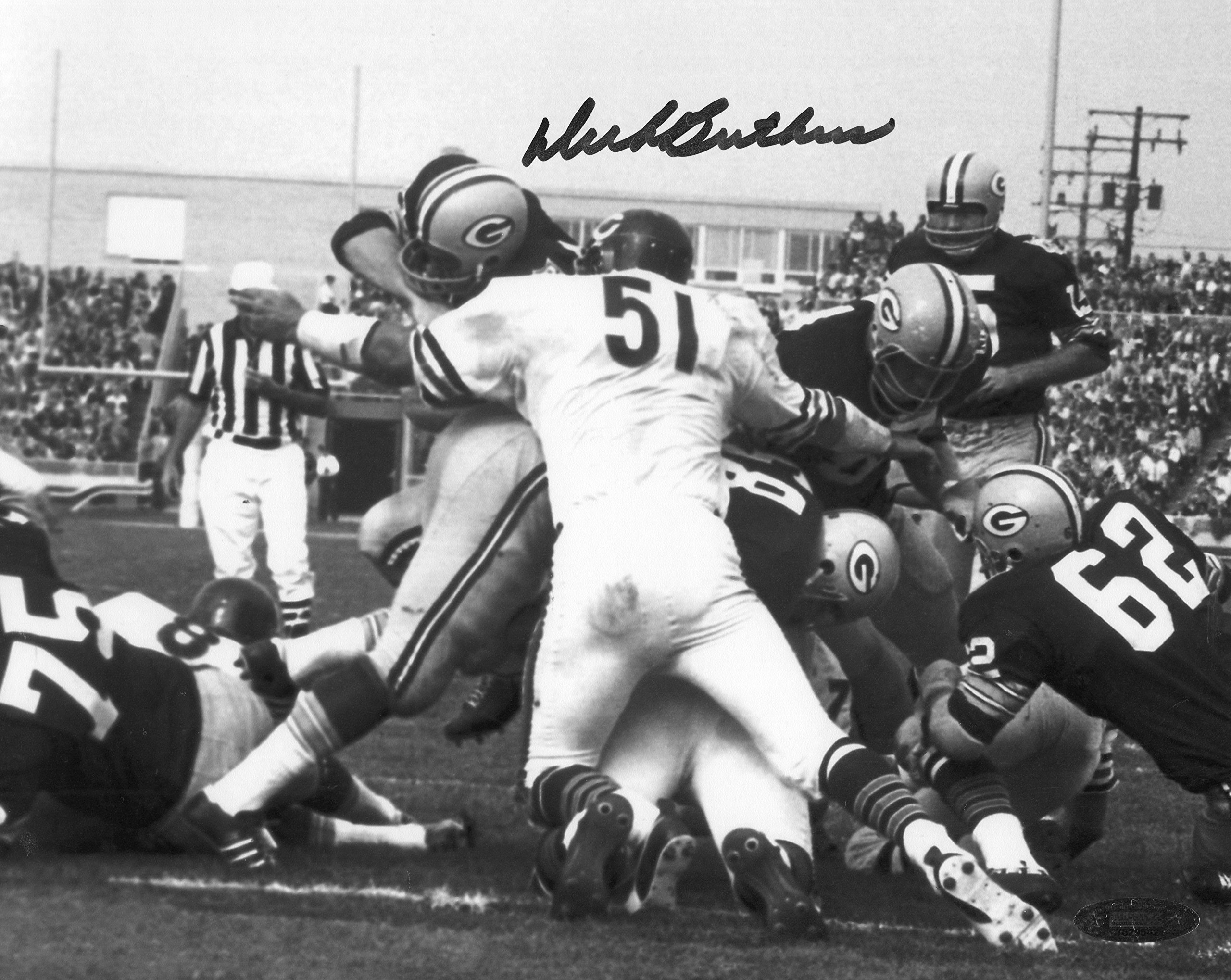 Dick Butkus Signed Autographed Chicago Bears vs Packers 8x10 Photo TRISTAR COA